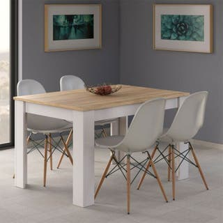 Mesa de comedor salón, extensible mesa de cocina,