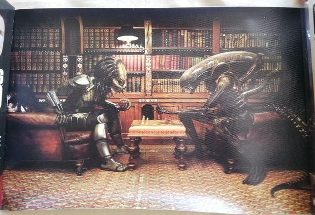 Lienzo Alien VS Predator. NUEVO