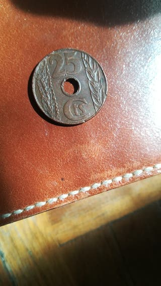 moneda de 25 céntimos de 1938,