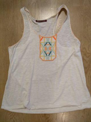 Camiseta Comptoir des Cotonniers bordados T. M