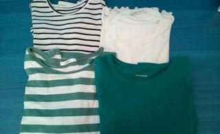 Pack 4 camiseta de manga larga