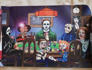 Lienzo Póker Terrorífico. NUEVO