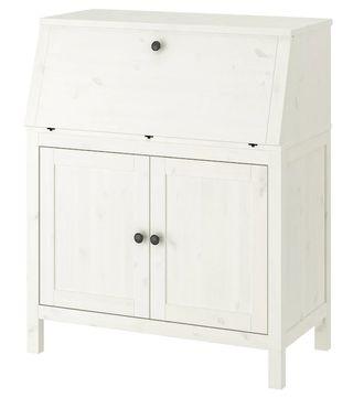 HEMNES Secreter, escritorio blanco, 89x108 cm