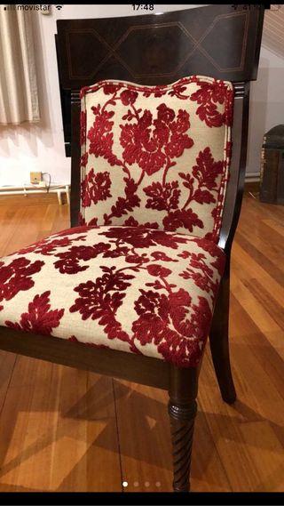 Conjunto de seis sillas