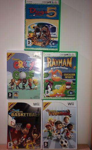 Pack de 3 juegos Wii/PC sin usar