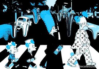 Litografia DEATH NYC .SIMPSONS ABBEY ROAD