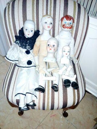 lote,muñecos porcelana