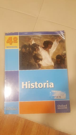 libro de historia. cuarto de secundaria