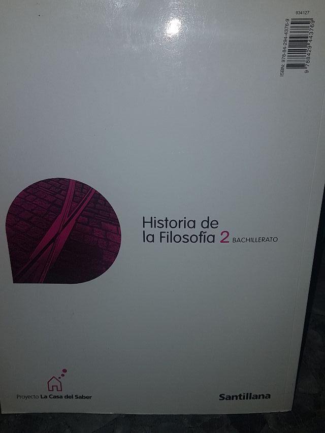 Historia de la Filosofía. 2Bachillerato.