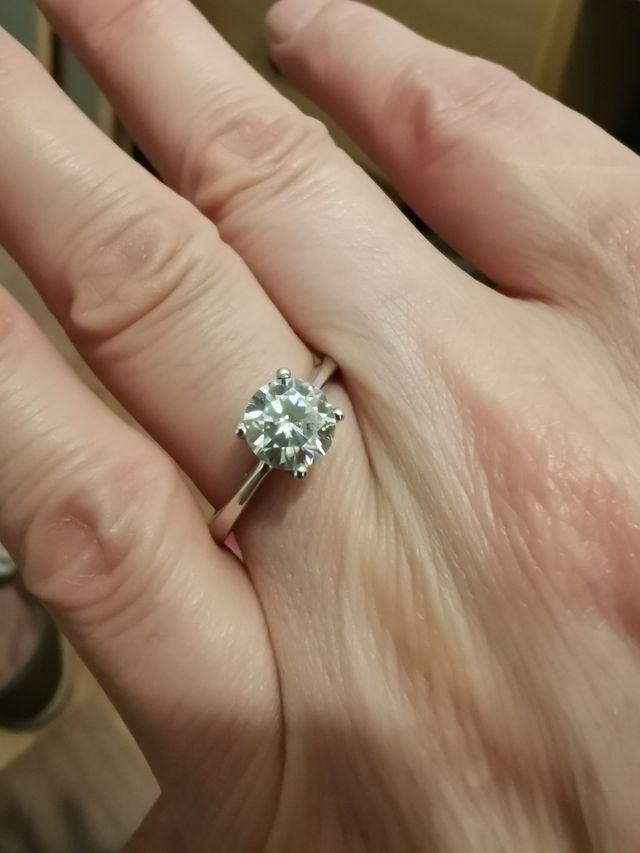 anillo de diamante oro 18 kilates