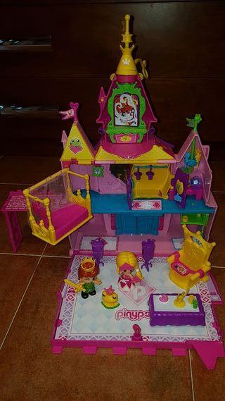 Castillo de pin y pon+ muñecos
