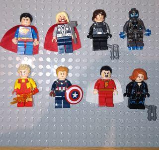 Figuras tipo lego Superheroes