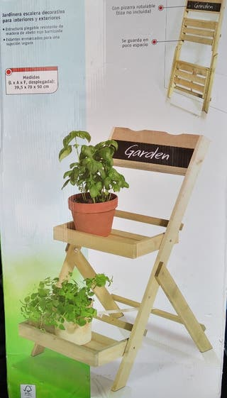 estantería jardinera dos pisos