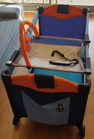 Cuna de viaje completa plegable con colchón