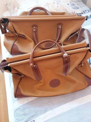 Conjunto 2 maletas bolso piel