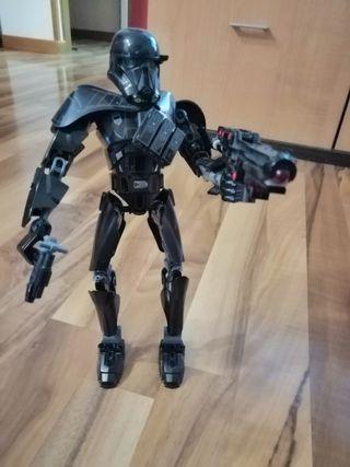 muñeco de lego star wars con pistola funcional
