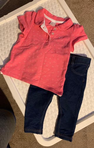 H&M 4-6 t-shirt and soft jeans