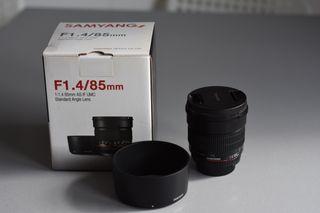 Samyang 85mm f/1.4, bokeh Nikon con filtro UV