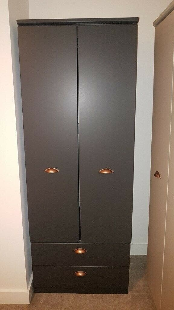 Dark Grey Palace Wardrobe - Loft Interiors