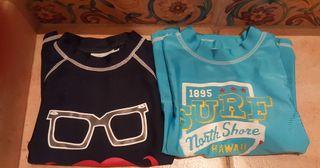 2 Camisetas 1 bañador piscina playa niño talla 4/5