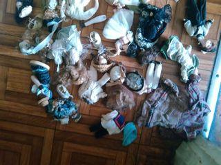 muñecos antiguos porcelanas para reparar