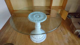 Mesa circular cristal