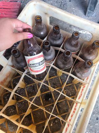 Botellas antiguas de colección
