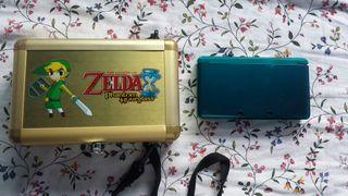 Nintendo 3ds con maletín zelda