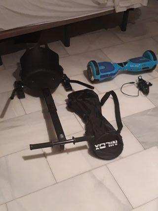 patinete+silla+mochila+cargador