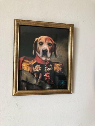 Cuadro perro uniformado 22 x 28
