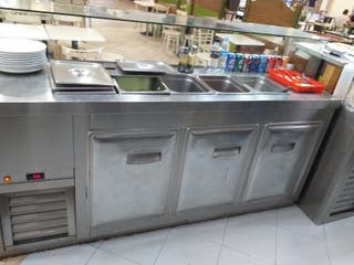Mesa exibidora elaboración fría..