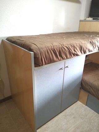 habitación literas escritorio dormitorio