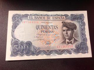 Billete 500 pesetas emisión 23 julio 1971