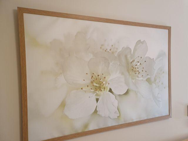 cuadro enmarcado flores