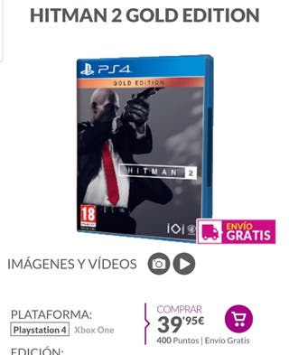 HITMAN 2 GOLD EDITION PS4 PRECINTADO