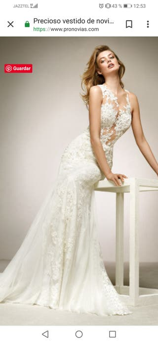 600d96a0 Vestido de novia Pronovias de segunda mano en Sevilla en WALLAPOP