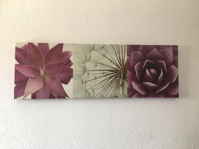 Cuadro flores moradas