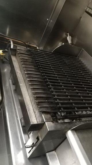 barbacoa de carbón a gas