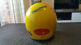 casco de moto tipo jet clásico vintage de 1975