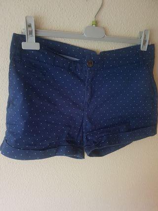 pantalón corto chica azul marino