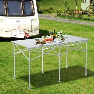 Mesa Plegable de Aluminio Portátil para Camping Pi