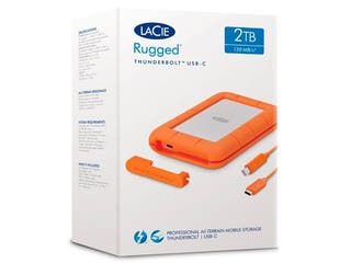 Disco duro LaCie Rugged Thunderbolt USB-C- 2TB