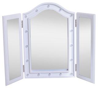 Espejo de Maquillaje con Luz LED Plegable