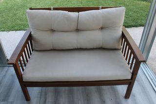 sofa de madera para exterior