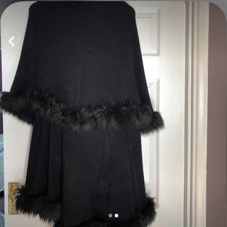 Faux fur coat/throw