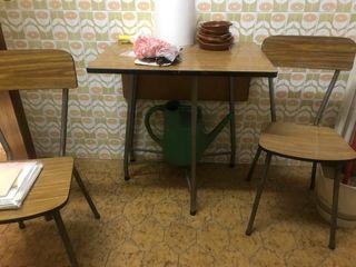 Mesa de cocina con ala, con 2 sillas