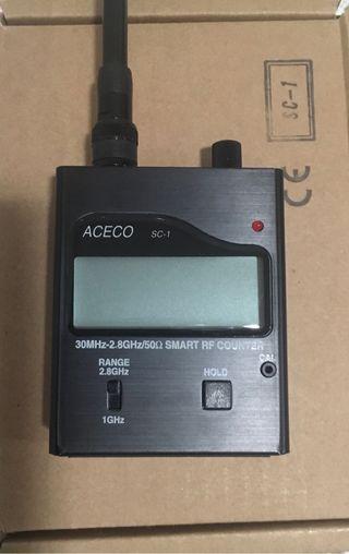 Detector de micrófonos Aceco SC-1 Smart R.F. Count