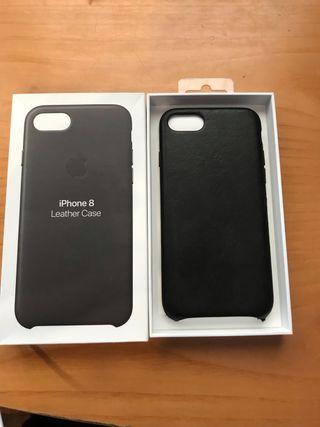 Funda de cuero negro Iphone 7 y 8 ORIGINAL