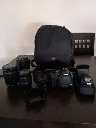 equipo completo fotografía Canon