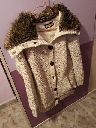 chaqueta del Bershka de lana chica talla M
